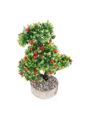 Çiçekmisin Kütük Saksıda Yapay Kiraz Ağacı Renkli
